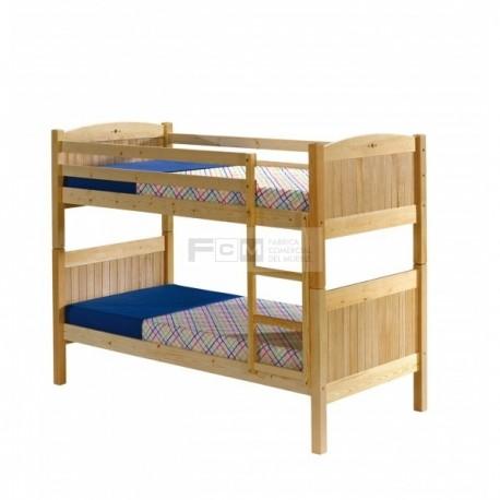 Literas de madera fcm mobiliario hosteler a - Literas de pino ...