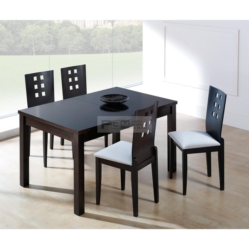 Conjunto mobiliario hosteler a mesa extensible abel y for Conjunto mesa extensible y sillas cocina