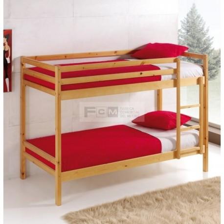 Litera de madera mobile 90x190 de pino macizo - Fabricar cama nido ...