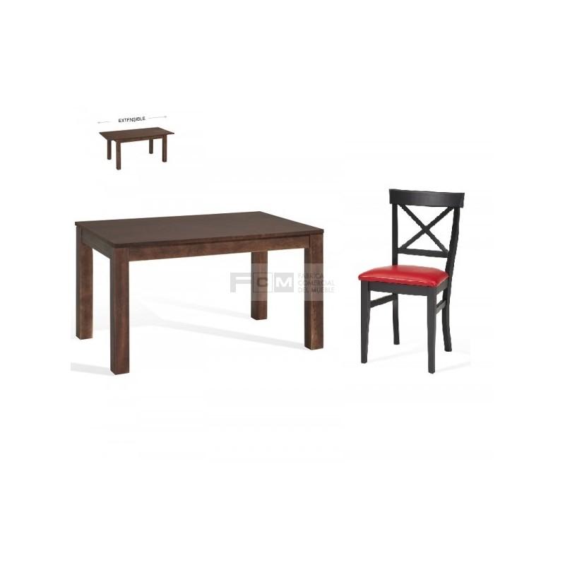Conjunto mobiliario hosteler a mesa extensible aida y for Mobiliario hosteleria