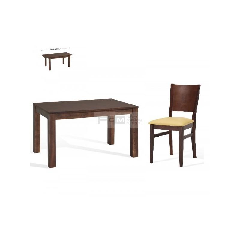 Conjunto mobiliario hosteler a mesa extensible aida y for Conjunto mesa y sillas salon
