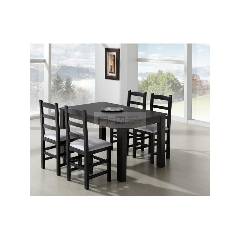Conjunto mobiliario hosteler a mesa extensible aida y for Conjunto mesa extensible y sillas cocina