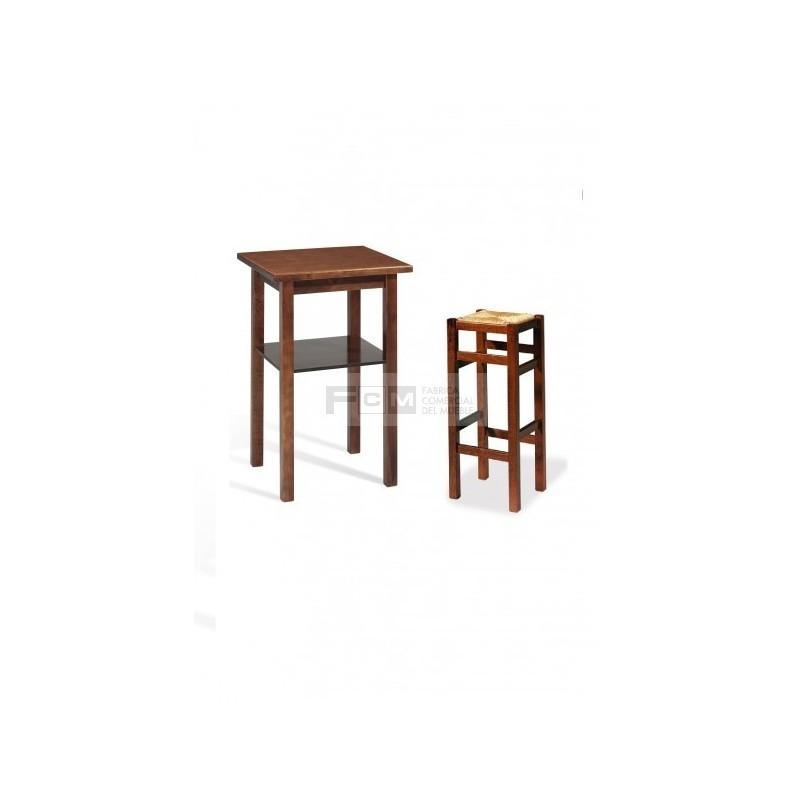 Conjunto mobiliario hosteler a durango alta y taburete liso for Mobiliario hosteleria