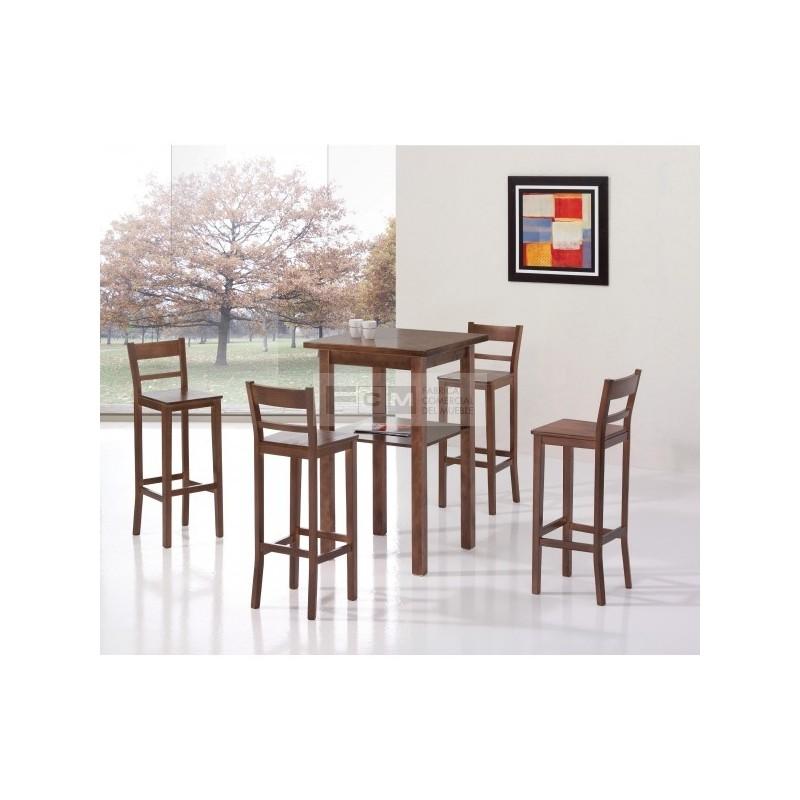 Conjunto mobiliario hosteler a durango alta y taburete tango for Mobiliario hosteleria