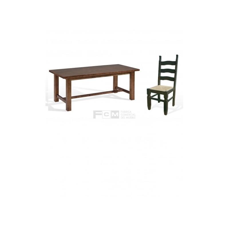 Conjunto mobiliario hosteler a durango grande y silla torreon for Mesas y sillas hosteleria