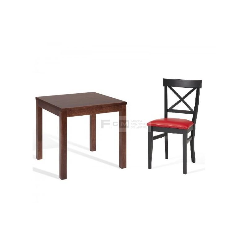 Conjunto mobiliario hosteler a mesa dunia y silla aspas for Mobiliario hosteleria