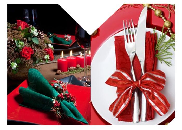 Mesas navideñas para decorar en Navidad
