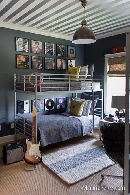 Literas metálicas: decoración de un dormitorio juvenil