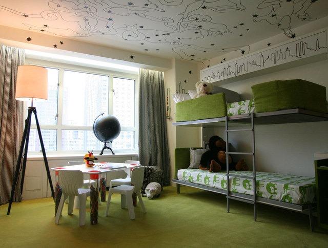 Literas metálicas: decoración de un dormitorio infantil