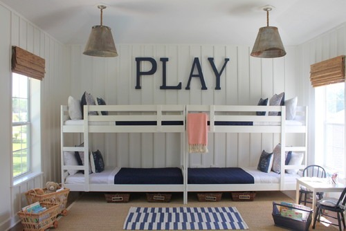 Literas blancas: decoración de un dormitorio infantil