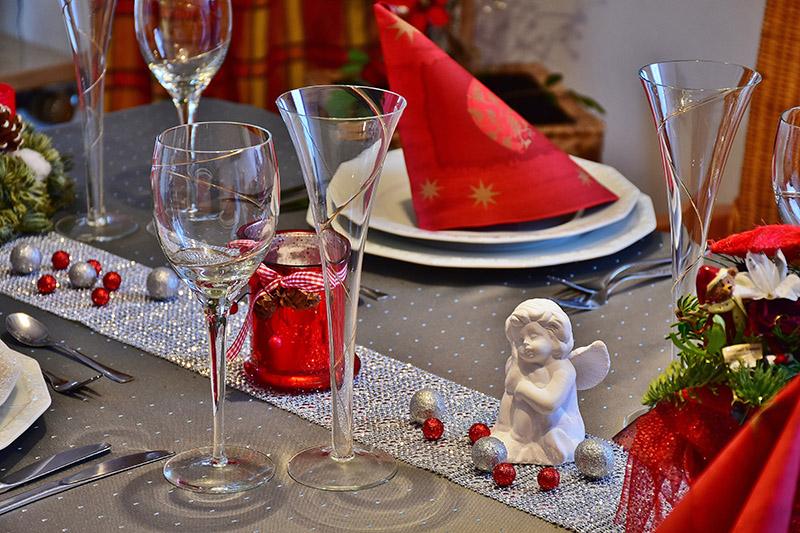 Adornos para la mesa en navidad