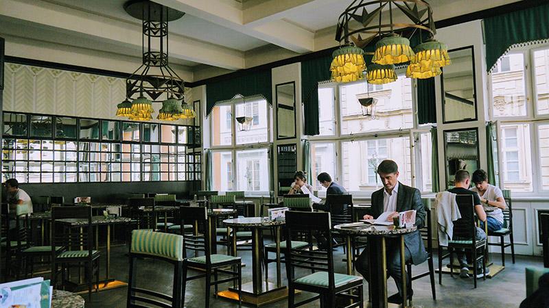 Ambiente para cafeterías vintage